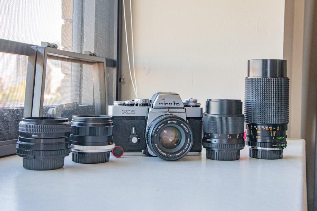 Minolta XE with Lenses