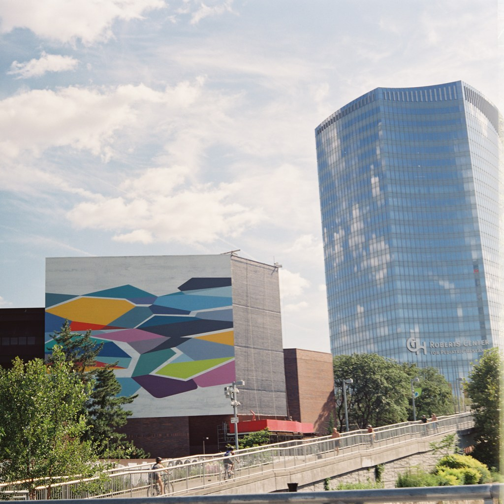 New Mural and Roberts Center - Cropped