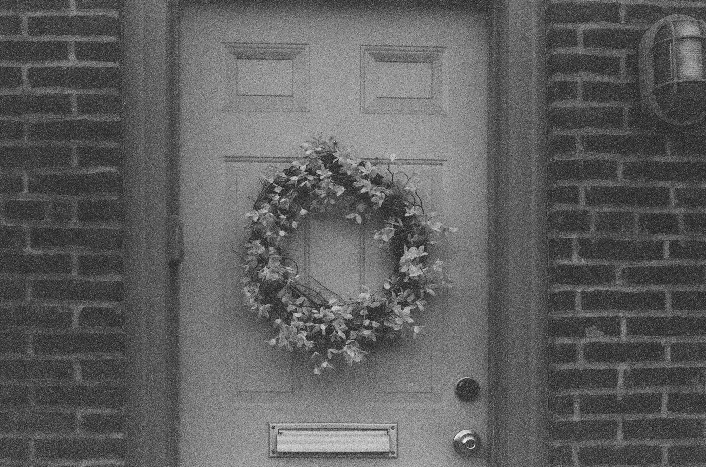 Black and White Wreath