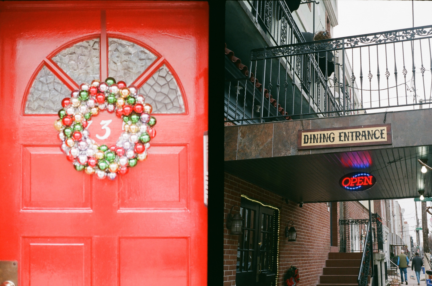 Red Door and Dining Entrance