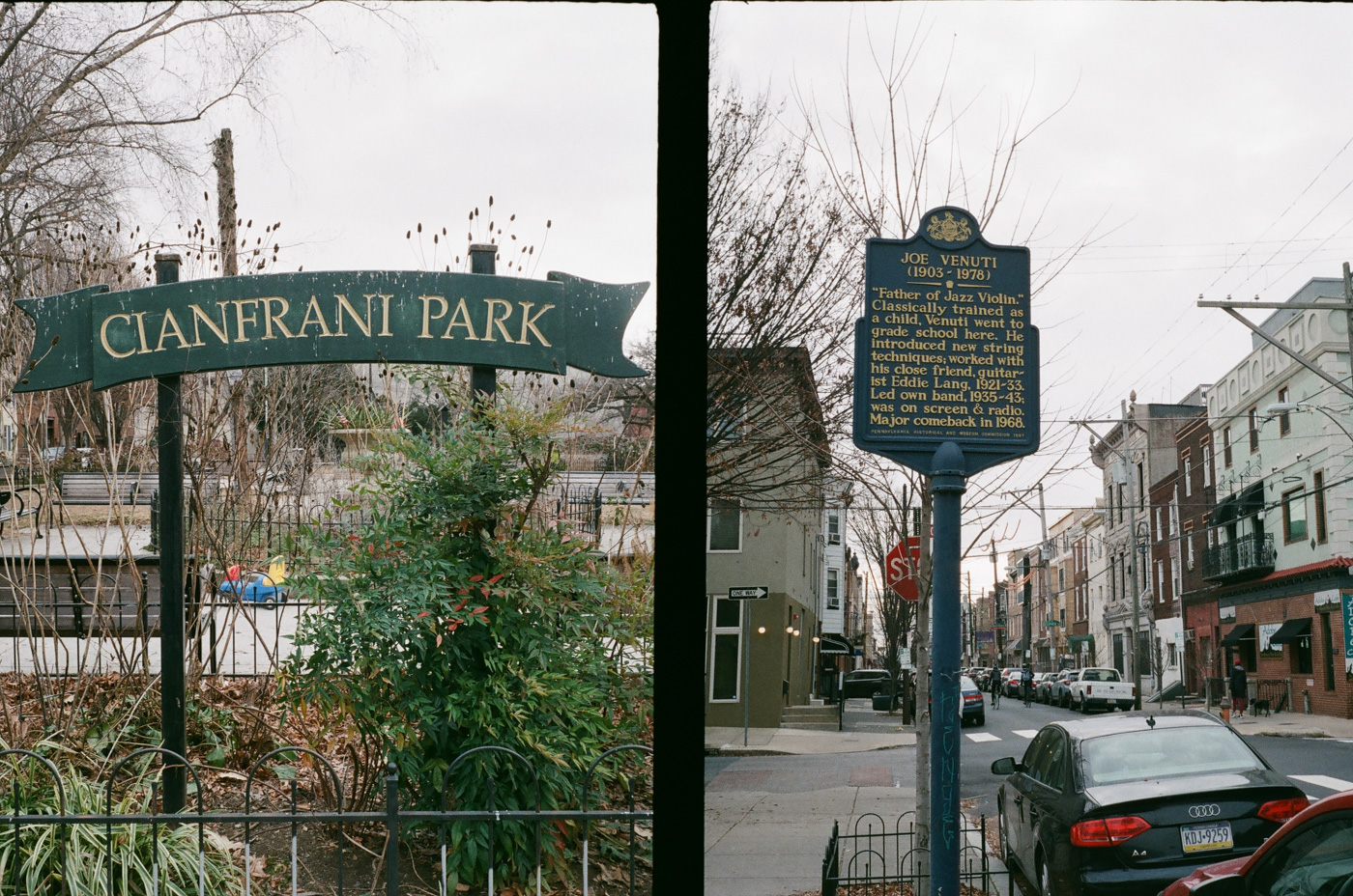 Cianfrani Park and Joe Venuti Historical Marker