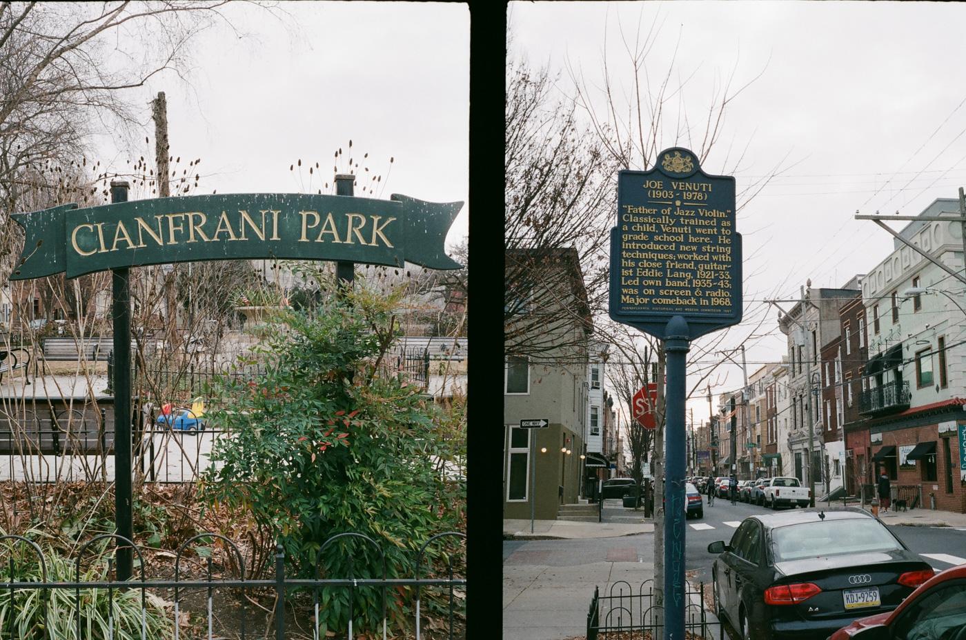 Cianfrani Park and Joe Venuti Historical Marker