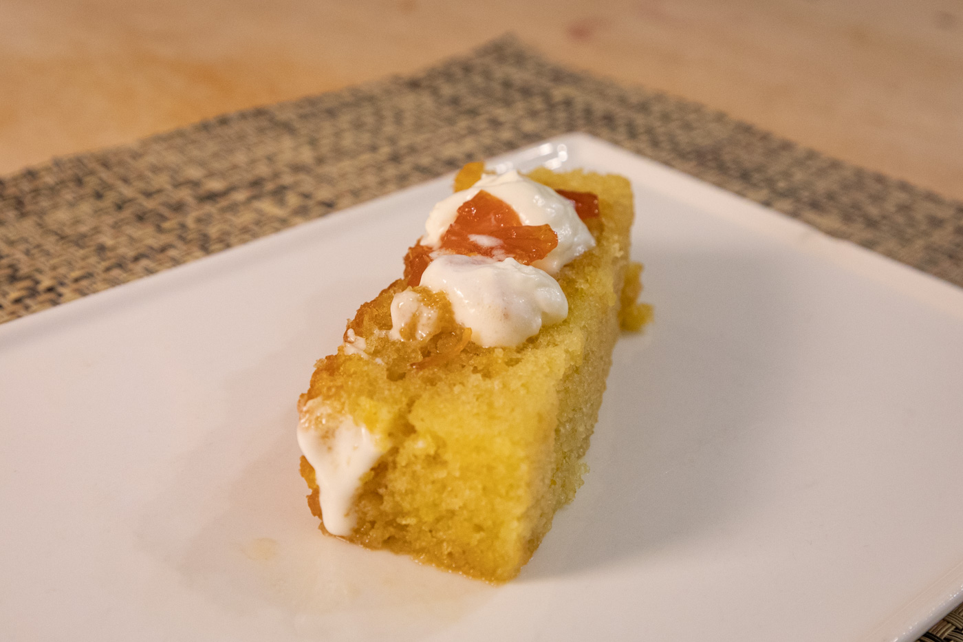 Olive Oil Cake with Citrus Marmalade and Yogurt from Pumpkin