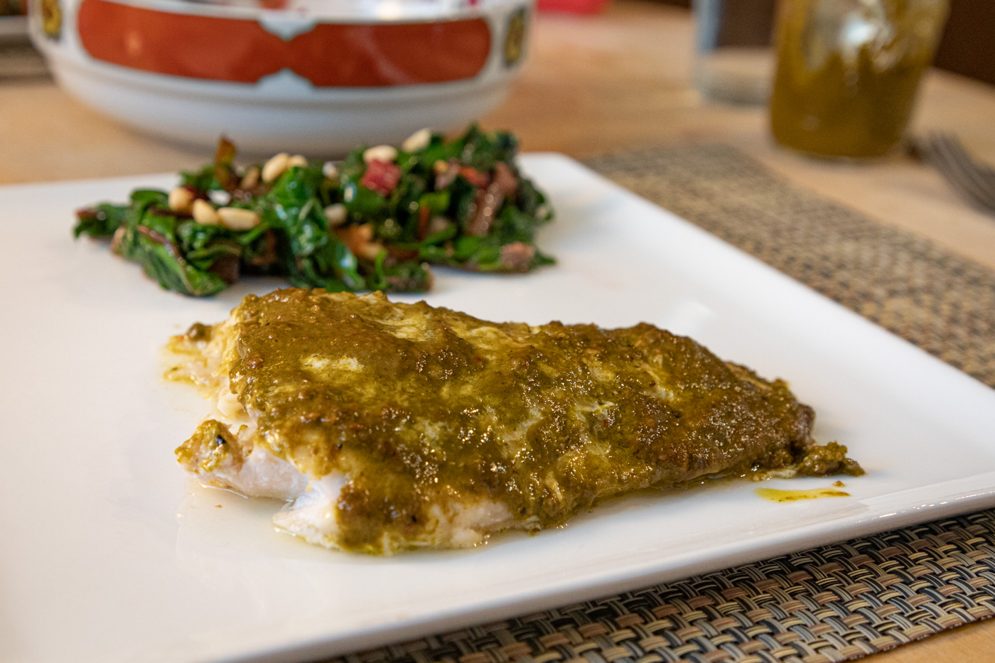 Tilefish with Green Harrisa