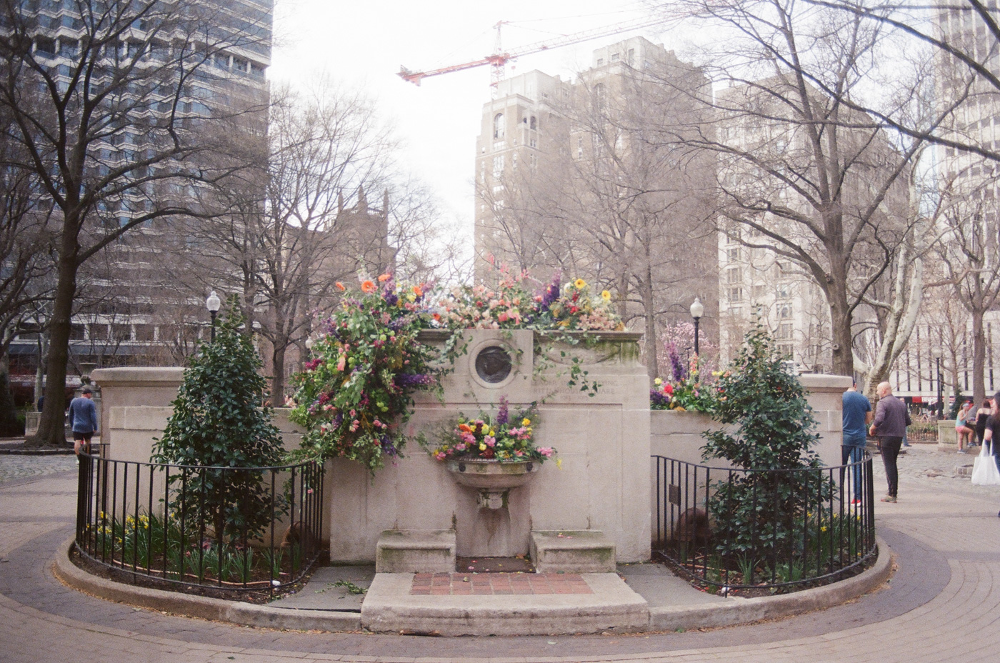 Flowers in Rittenhouse Square