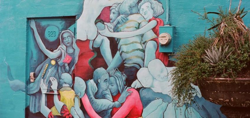 Hugging Pile by Meg Saligman