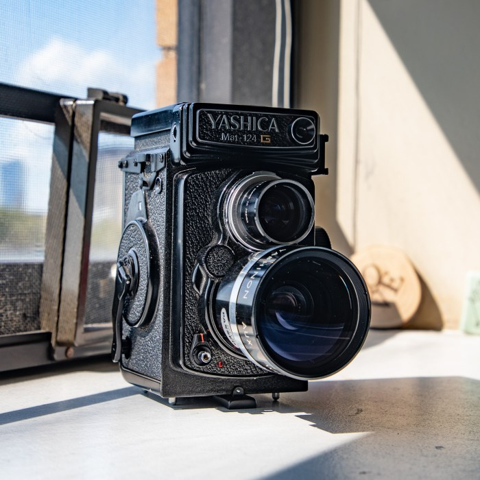 Yashica Mat-124 G with Wide Angle Lens
