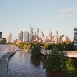 Flooded Schuylkill River