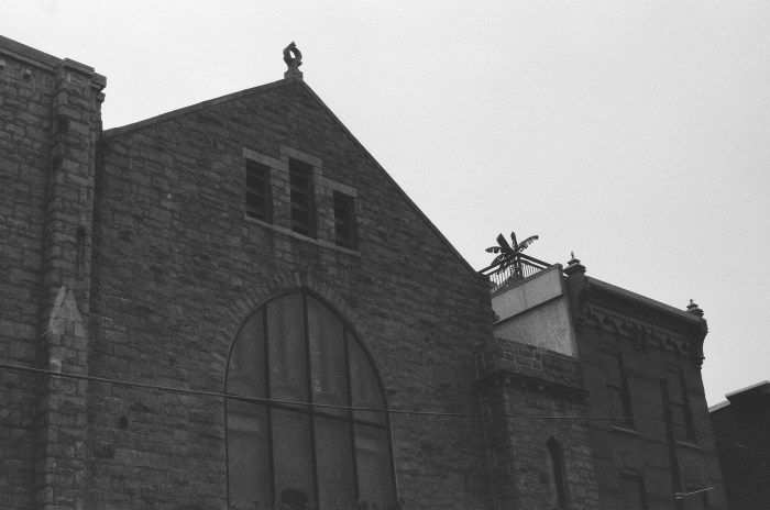 Church and Palm Tree