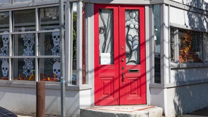 Red Halloween Door