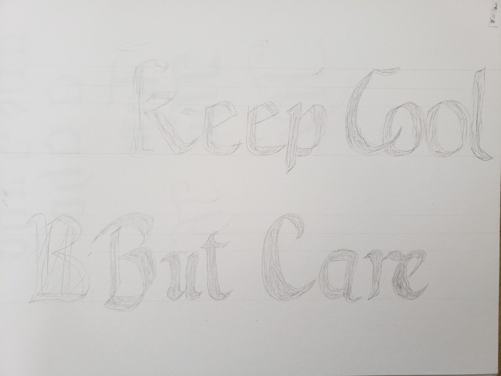 Keep Cool But Care rough version