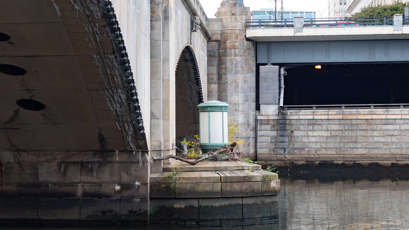 Lamp along the Schuylkill River
