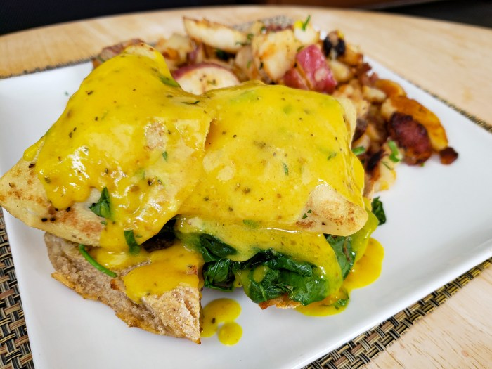 Vegan Benedict from The Gold Standard Cafe