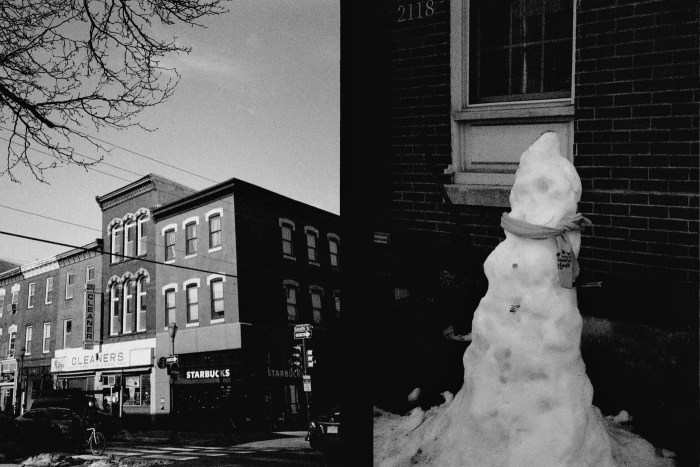 South Street and Melting Snowman