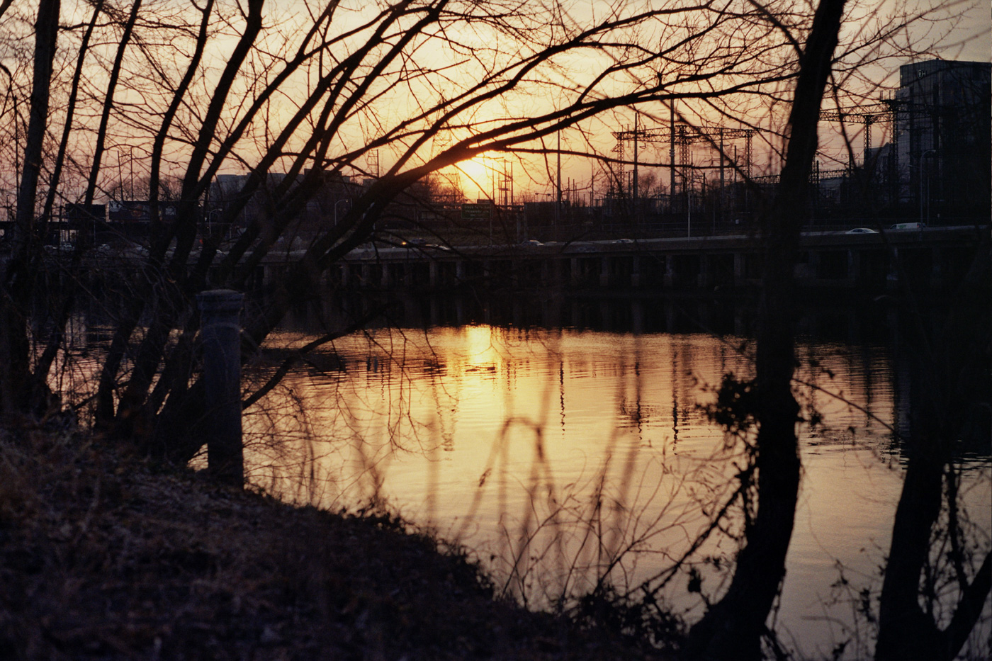 Sunset along the Schuylkill River
