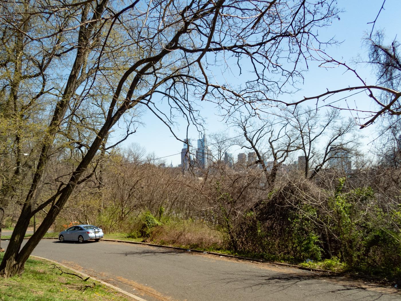 Philadelphia Skyline as Seen from Lemon Hill
