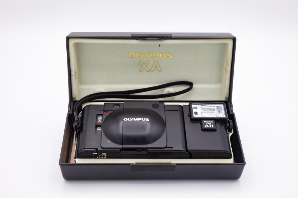 Olympus XA in Its Box