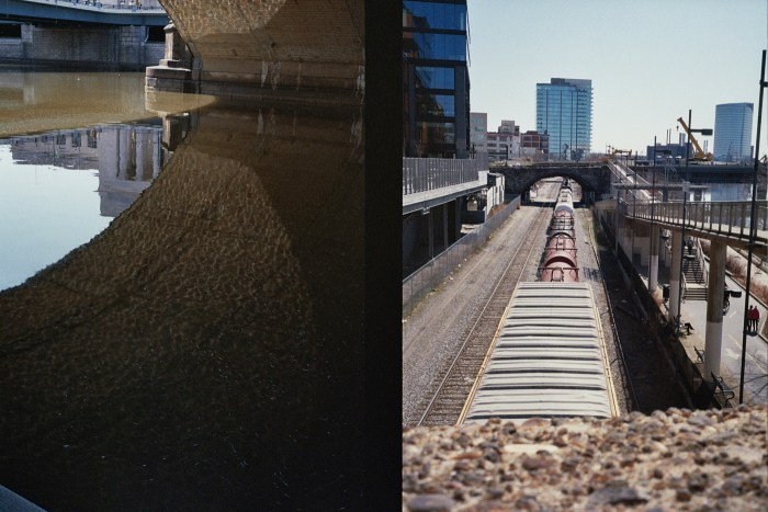 Under Bridge Reflection and Train