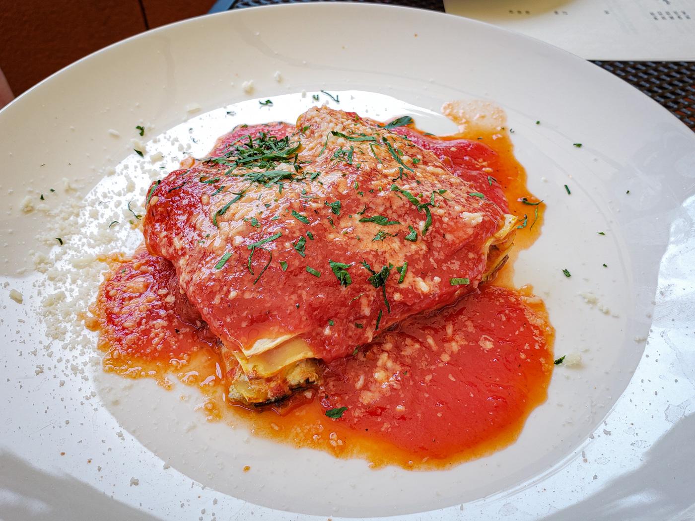 Lasagna at Le Virtù