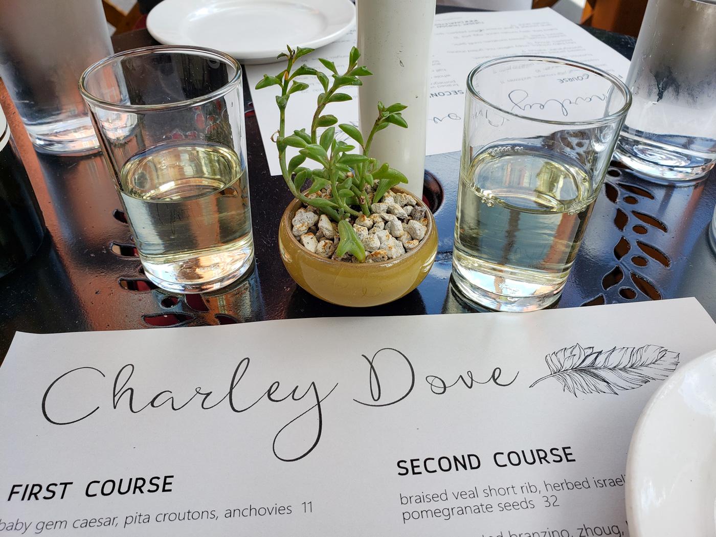 Dinner at Charley Dove
