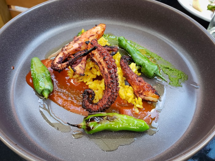 BBQ Baby Octopus at Charley Dove