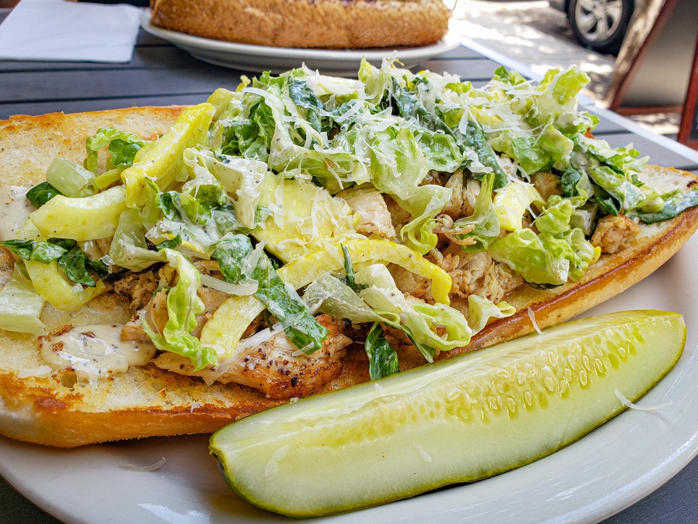 Chicken Caesar Cheesesteak at American Sardine Bar