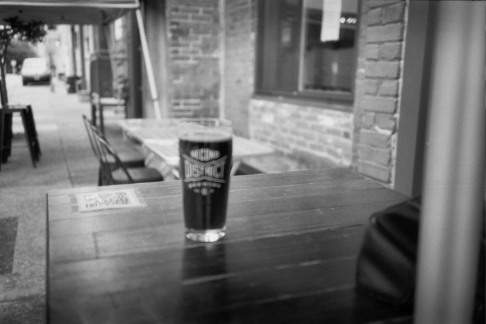Blurry Beer at Second District Brewing
