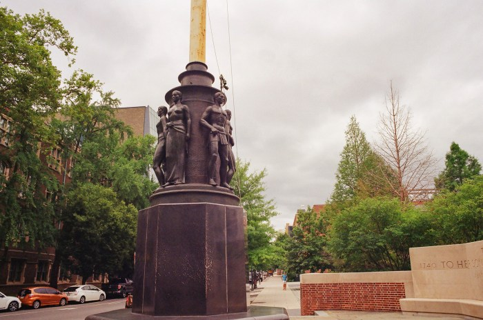 Flagpole Statues at the University of Pennsylvania