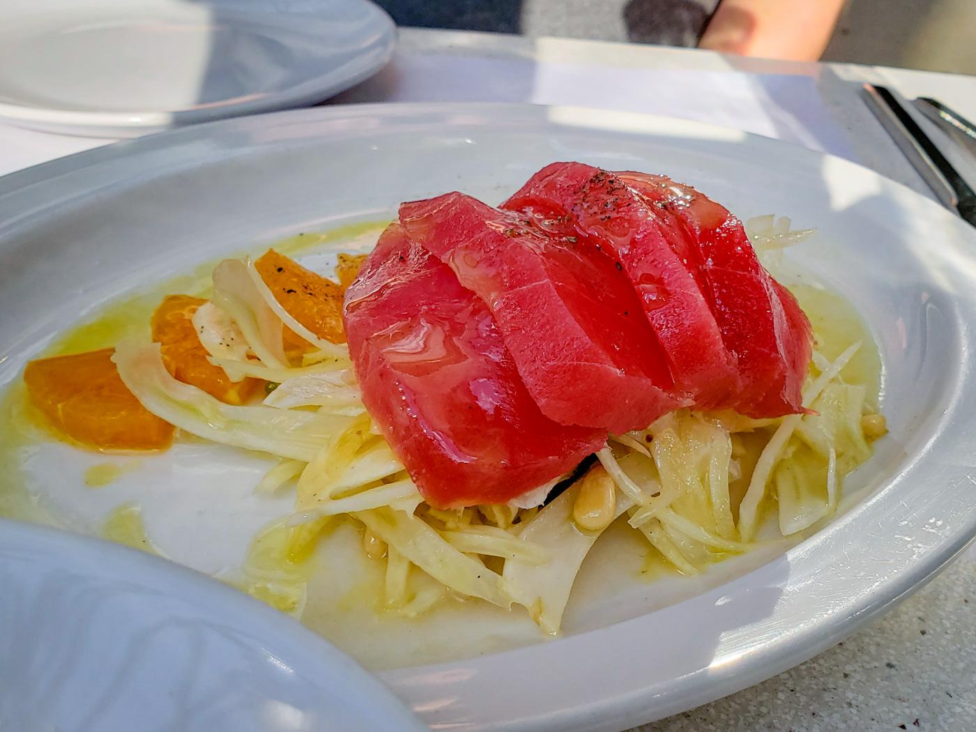 Tuna Crudo at L'Anima
