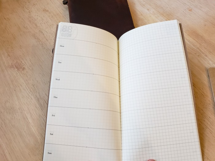 Traveler's 019 Weekly Planner and Memo