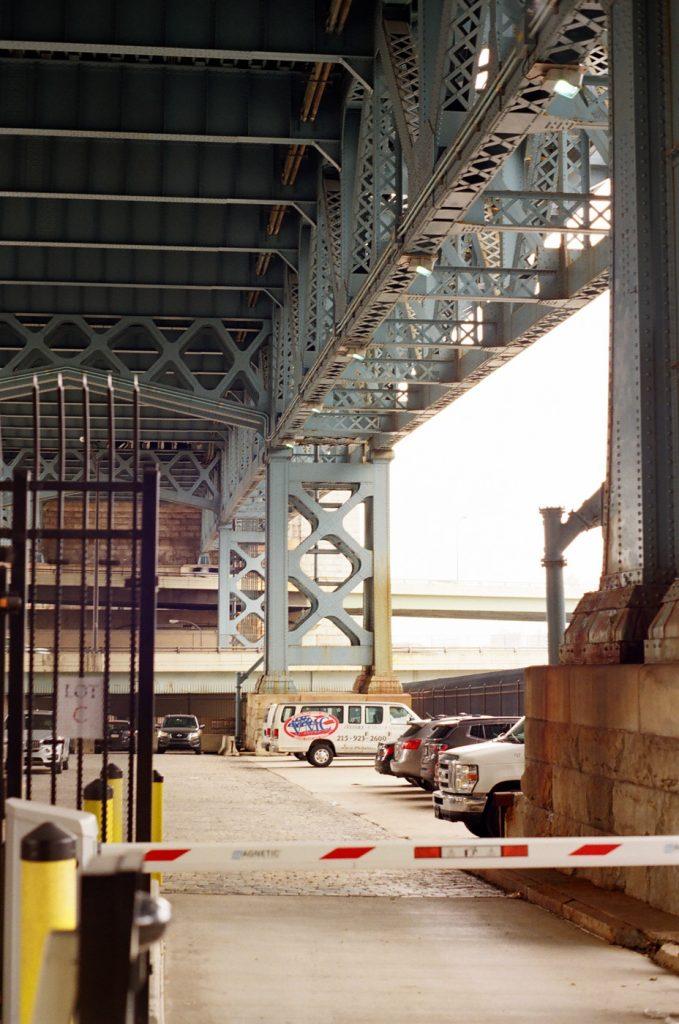 Underneath the Benjamin Franklin Bridge
