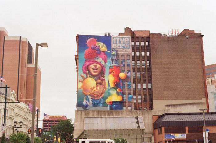 Five Below Ad Mural