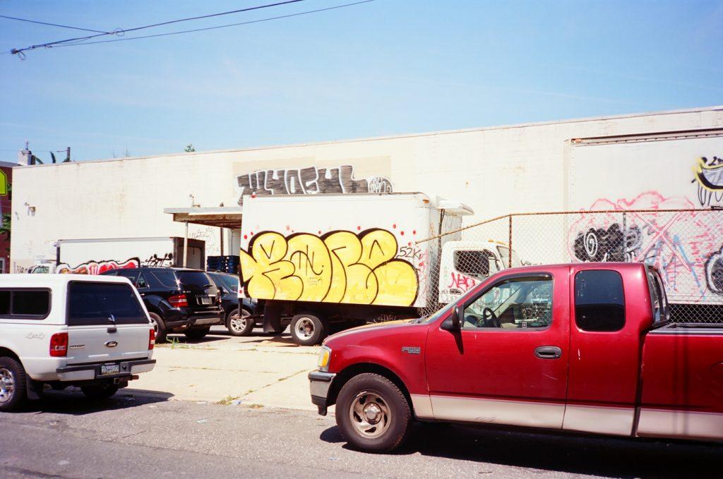 Yellow Graffiti Truck