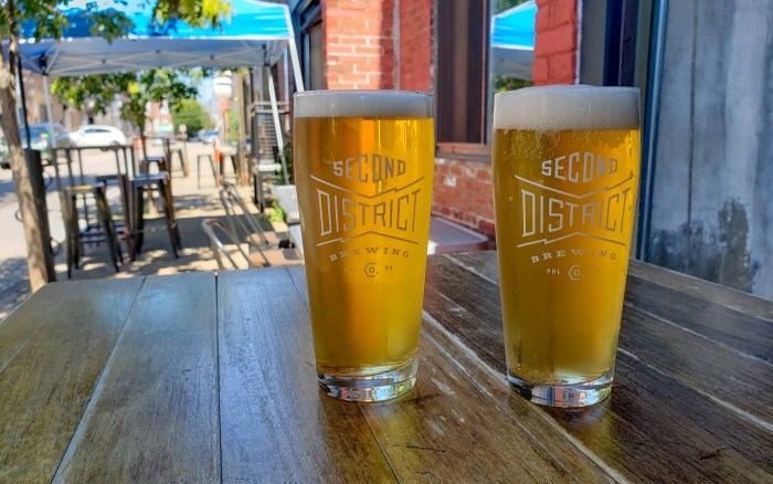 Beers at Second District Brewing