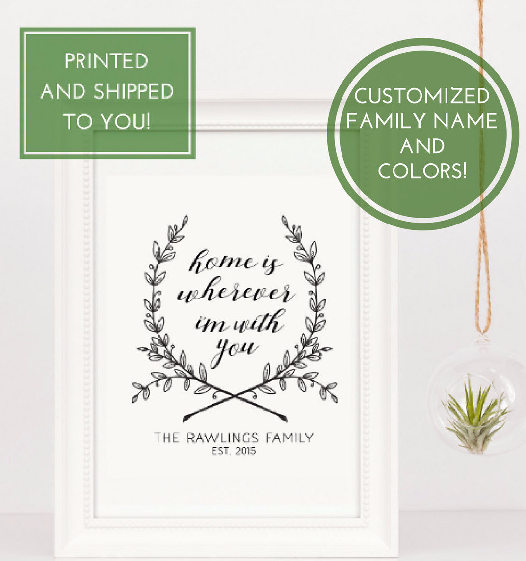 Home Is Wherever Im With You | New Homeowner Gift| Custom ...