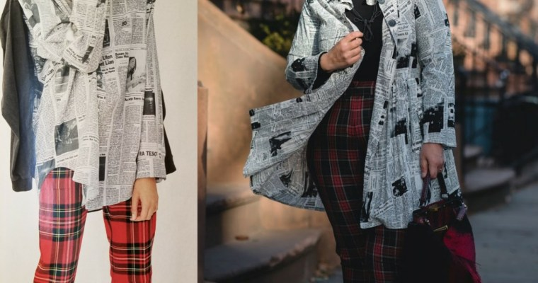 Newspaper Print Trend…Cheap& Chic