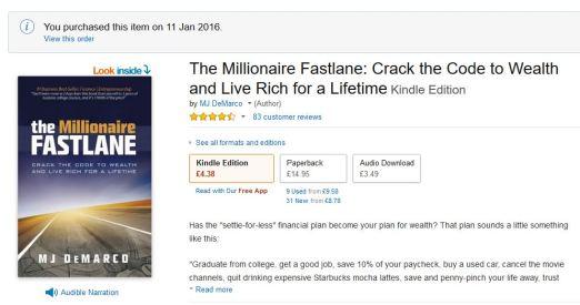 book review millionaire fastlane