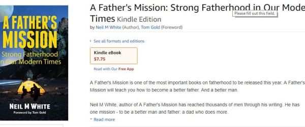 A Father's mission book by neil m white on Amazon