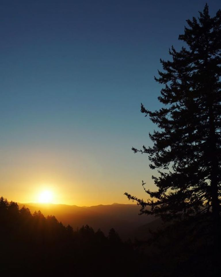 Sunrise over the Smoky Mountains Newfound Gap
