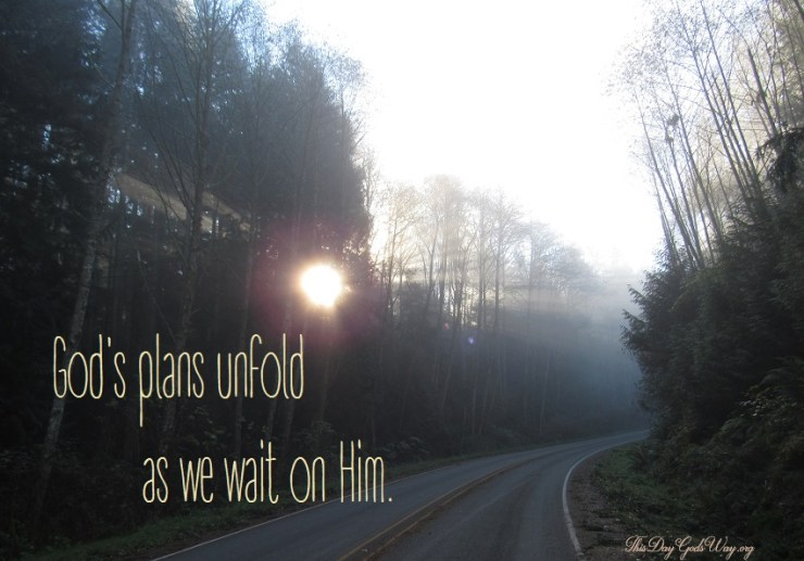 Are You Waiting for God's Plan to Unfold?