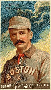 King Kelly meets with Chicago White Stockings owner Albert Spalding for contract talks