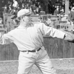 Roger Bresnahan pitching