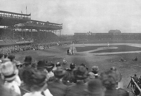 Threerain postponementsgiveChicagothe honor of hosting the firstmajor leaguegame inAmerican Leaguehistory (the circuit played as aminor leaguein1900). AtSouth Side Park, a crowd of over 10,000 fans attends the game to see pitcherRoy Pattersontake the win for theChicago White Soxover the the visitingCleveland Blues, 8 – 2.Clark Griffithmanages Chicago.