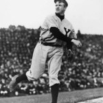 1905- TheGiantsbeat up on theRedsagain, winning 2 - 0 and 6 - 5. New York scores four runs in the nitecap onwild pitchesbyOrval Overall, but when the Reds load the bases with no outs in the 9th,Christy MathewsonrelievesDummy Taylorand gets three straight outs.
