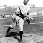 1908- TheDovesandGiantssplit a doubleheader at thePolo Grounds, with the Giants taking the opener, 6 - 3, and Boston winning the nitecap, 9 - 7.Christy MathewsonpreservesJoe McGinnity's win in the first game, pitching a perfect 9th inning; in the nitecap, he relievesDummy Taylorin the 9th with the score 7 - 7, but the Braves score twice for the win.Fred Merklecracks his first major league homer, againstPatsy Flaherty, in the nitecap.