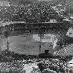 Forbes Field opens in Pittsburgh, PA with a sell-out crowd of 30,332 watching the first-place Pirates lose, 3 - 2, to the Cubs. Built at a cost of over $1 million, it is the most expensive ballpark built to this point and the first to feature amenities such as elevators and an underground parking garage for motorcars.