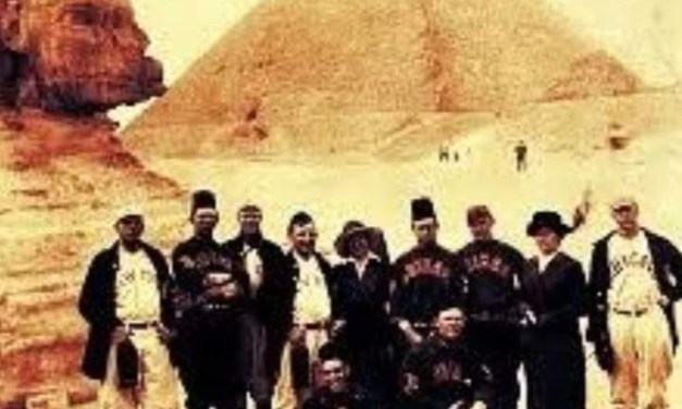 Chicago White Sox and New York Giants play exhibition game in Cairo Egypt