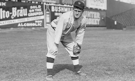 New York Giants outfielder Red Murray is knocked unconscious by a bolt of lightning during a game