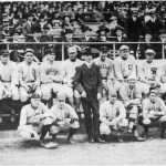 The Red Sox play a benefit game against an American League all-star team and Babe Ruth and Rube Foster combine for a 2 - 0 shutout. The AL squad features Ty Cobb, Tris Speaker, and Joe Jackson in the outfield. More than $14,000 is raised for the family of sports writer Tim Murnane, who died February 13th. Murnane had played and managed in Boston in the 19th century. Actress Fanny Brice helps sell programs and former heavyweight champ John L. Sullivan coaches 3B for the Sox. Ruth wins the fungo hitting contest with a drive of 402 feet, while Joe Jackson has the longest throw at an impressive 396 feet.