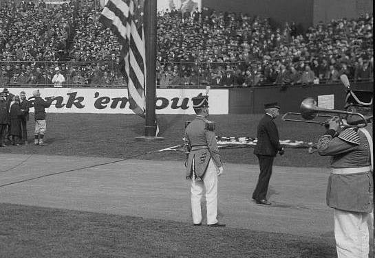 Star Spangled Banner makes its debut Game 1 of the 1918 World Series